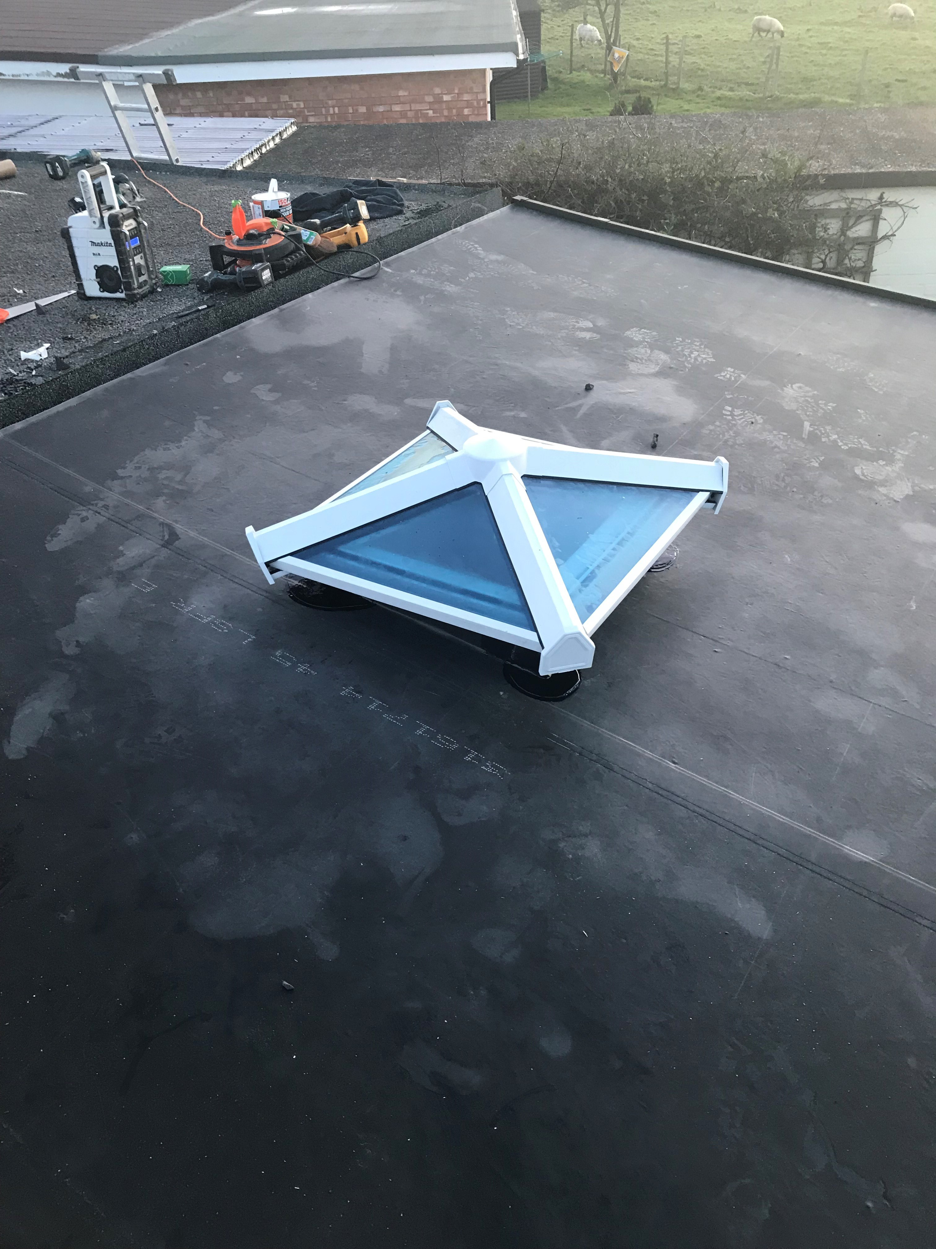 Flat Roof Skylight Fitted in Brighton