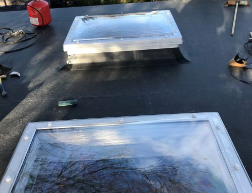 Flat roof rooflight – after fitting