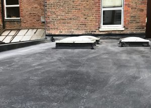 Flat roof skylight - after fitting