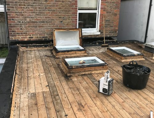 Flat Roof Before Work Started